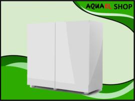 Glossy 80cm aquarium meubel wit