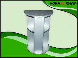 Aquael Ocean  aquarium meubel zilver