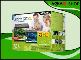Aquael Leddy 60 XL DAY&NIGHT - zwart aquarium