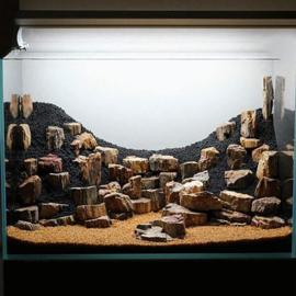 Petrified stone 10-20cm - aquarium decoratie stenen