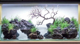 Black Volcanic rock 5-10cm - aquarium decoratie stenen