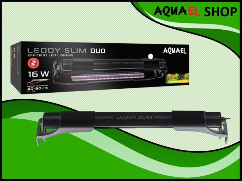 Leddy slim duo 16watt zwart - vol spectrum aquarium LED lamp