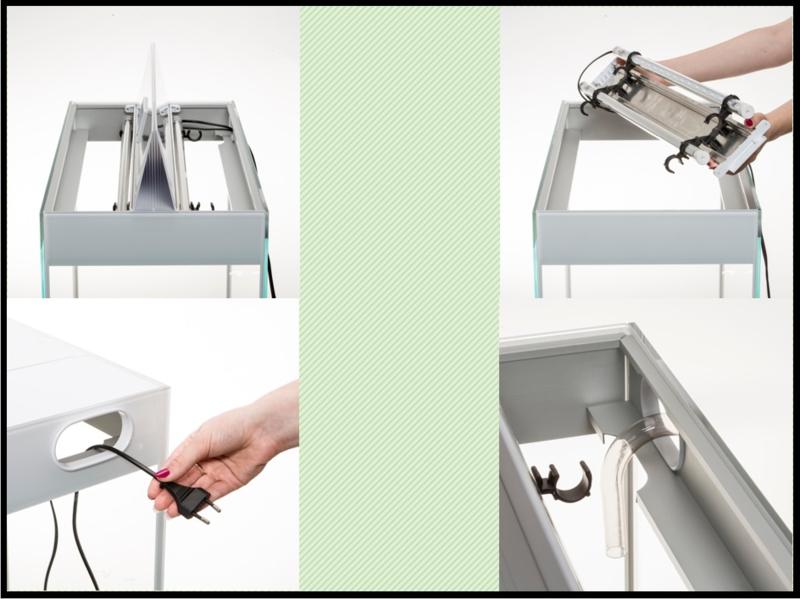 Aquael Glossy 100 wit aquarium set inclusief glossy meubel