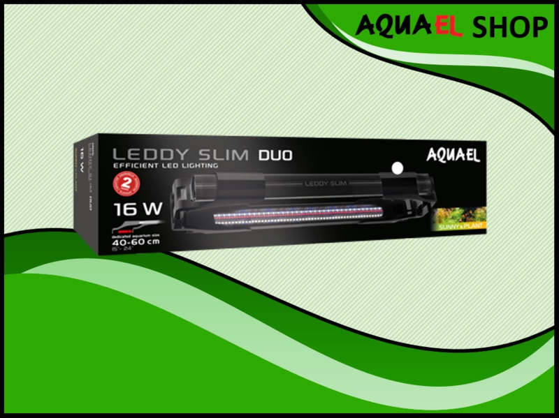 Leddy slim duo 10watt zwart - vol spectrum aquarium LED lamp
