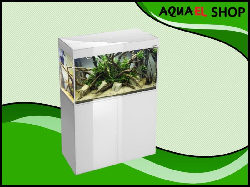 Aquael Glossy 100 wit aquarium