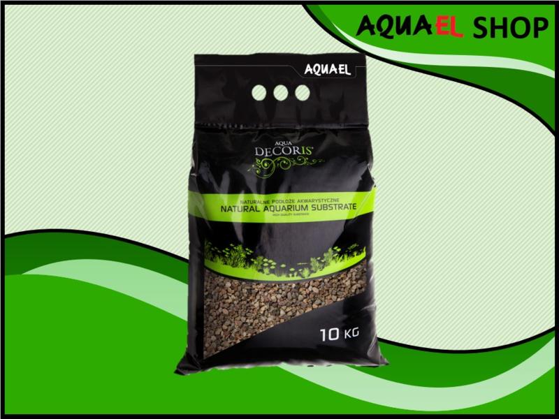 Natural gravel multi color grey 5-10mm / aquarium grind grijs 5-10mm 10KG