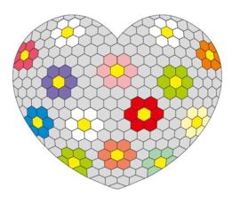 3D Hexies heart