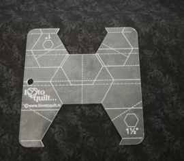 Hexagon ruler