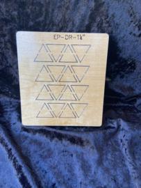 Driehoek 1 1/4 inch