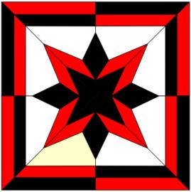 Star Light quilt block FPP