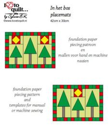 In het bos - placemats