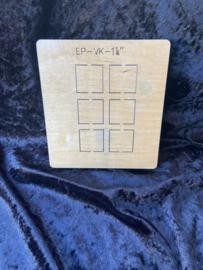 Vierkant  1  1/4 inch