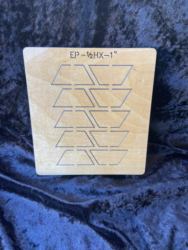 Half hexagon 1 inch