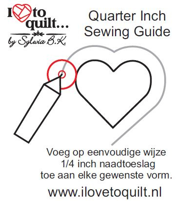 Quarter inch sewing guide