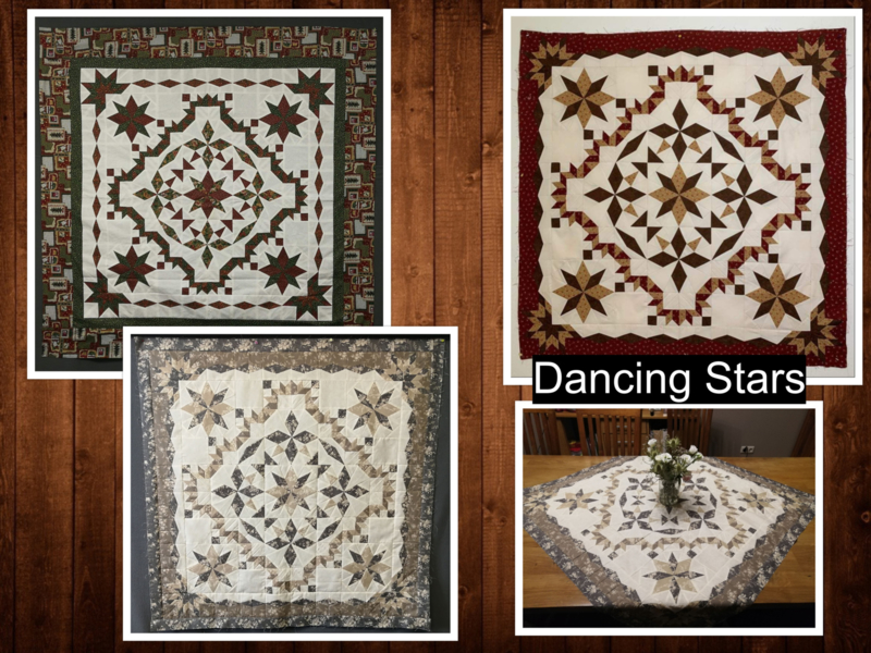Dancing Stars- paper piecing