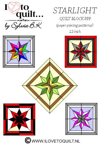 Star Light quilt block PPP
