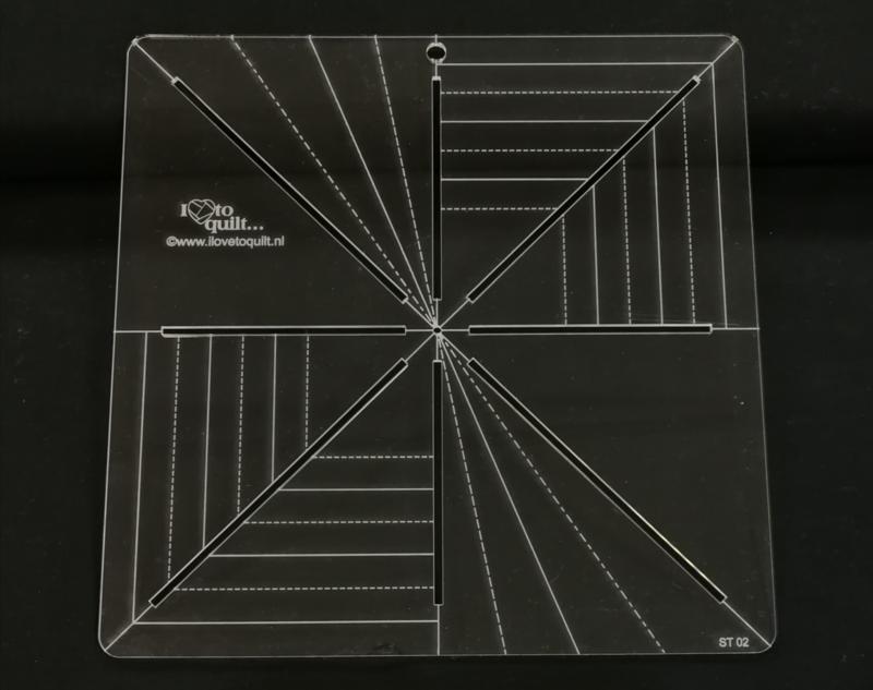 Stralen sjabloon plexiglas