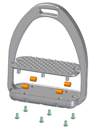 Tech Stirrups Capri PLUS dressuur roségold