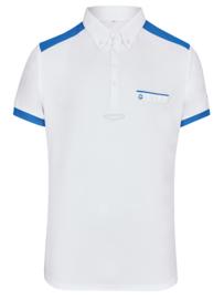 BUSSE Wedstrijdshirt ALAN-MAN wit (blauw)