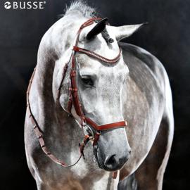 Busse Hoofdstel MODENA black (white)/crystal
