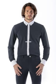 Ego7 Shirt Top-long sleeve for Men navy /wit