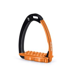 Tech Stirrups VENICE SLOPED EVO zwart/oranje