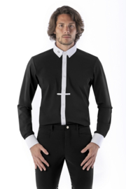 Ego7 Shirt Top-long sleeve for Men zwart /wit