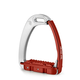 Tech Stirrups Venice Young EVO Kind zilver/rood