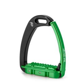 Tech Stirrups Venice Young EVO Kind zwart/groen