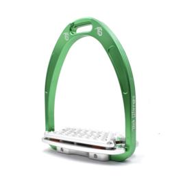 Tech Stirrups Athena Plus classic jump groen