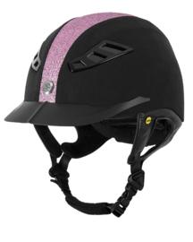 Back on Track Veiligheidshelm EQ3 Lynx Microfibre Pink Sand