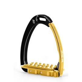 Tech Stirrups VENICE SLOPED EVO zwart/goud