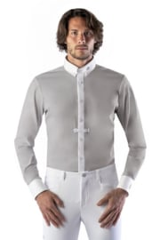 Ego7 Shirt Top-long sleeve for Men grijs /wit