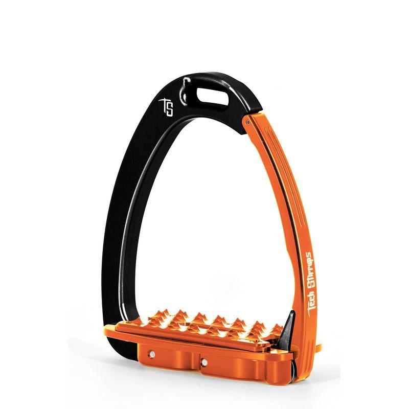 Tech Stirrups Venice EVO adult zwart/oranje