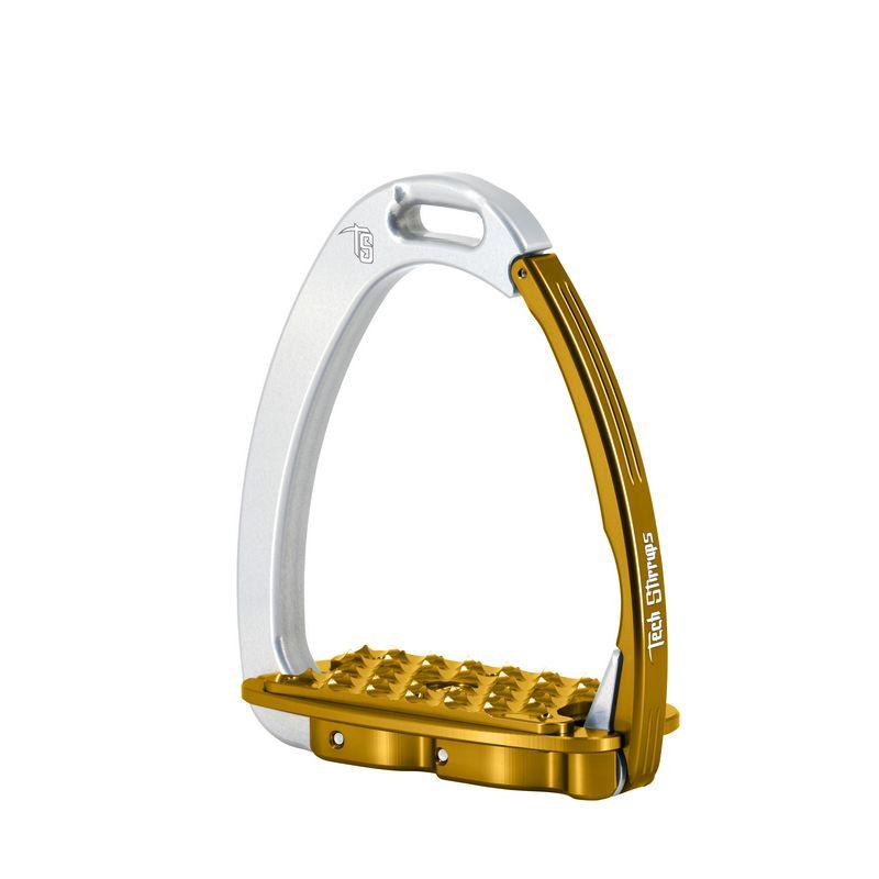 Tech Stirrups Venice EVO adult zilver/ goud