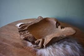 Teak houten schaal 80x80
