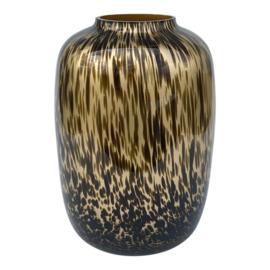 Mooie gouden cheetah vaas