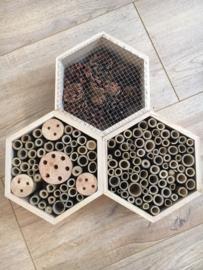 Insectenhotel Hexagon naturel XL