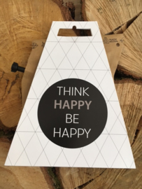 "Think Happy be happy met ""koffiekannetje"""