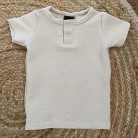 Button shirt rib off white