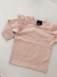 Ruffle shirt old pink