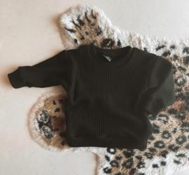 Big knit trui zwart