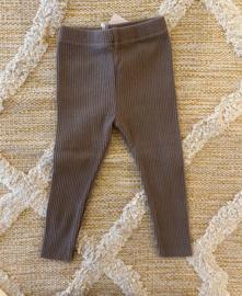 Rib legging brown