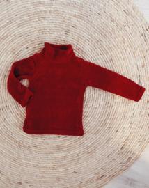 Velvet rib coltrui rood