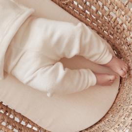 NEWBORN | Rib pants white