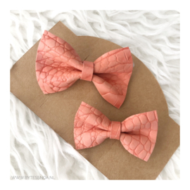 MOM&ME PIN BOW CORAL