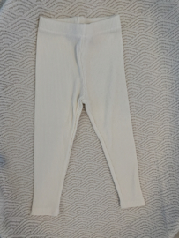 Rib legging off white