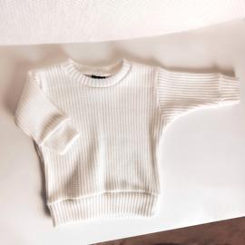Big knit sweater white
