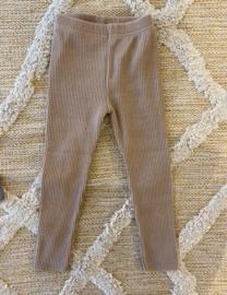 Rib legging dark beige