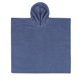 Poncho silk blue met naam